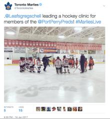 January 16 Tweet-Hockey Clinic